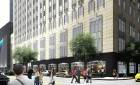 Redevelopment of First National Center is set to include replacement of a 1960s and 1970s addition with a parking garage and new retail on the first floor. [Rendering provided by ADG, Inc.]