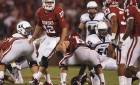Landry Jones seemed out of sync in the Sooners' win Saturday. PHOTO BY STEVE SISNEY, THE OKLAHOMAN
