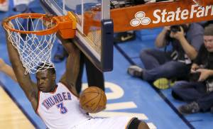 Dion Waiters helped spark Oklahoma City to a 133-105 rout of Golden State on Sunday night in Game 3 of the Western Conference finals. (Photo by Sarah Phipps, The Oklahoman)