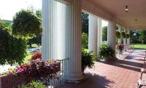 The porch of the Frank Phillips Home in Bartlesville.[Photo provided by Oklahoma Historical Society]