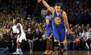 Reigning NBA MVP Stephen Curry (30) and the Golden State Warriors take a 45-4 record into their first meeting of the year with the Oklahoma City Thunder Saturday in Oakland. [Photo by Sarah Phipps, The Oklahoman]