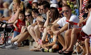 A crowd watches the Fourth of July Parade in Edmond at last year's  LibertyFest.  Photo by Bryan Terry, The Oklahoman ARCHIVES
