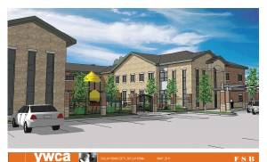 An architectural rendering shows the YWCA's proposed Passageway domestic violence shelter. PROVIDED  PROVIDED