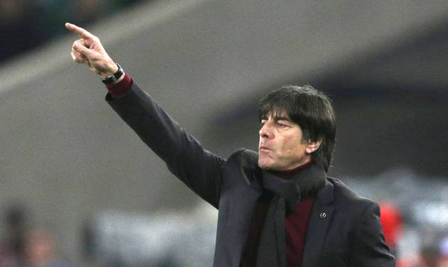 FILE - In this March 5, 2014, file photo, Germany's head coach Joachim Loew gestures during the international friendly soccer match between Germany and Chile in Stuttgart, Germany. (AP Photo/Matthias Schrader) - SEE FURTHER WORLD CUP CONTENT AT APIMAGES.COM