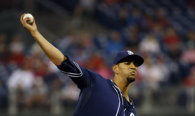 San Diego Padres' Tyson Ross pitches during the third inning of a baseball game against the Philadelphia Phillies, Wednesday, June 11, 2014, in Philadelphia. (AP Photo/Matt Slocum)