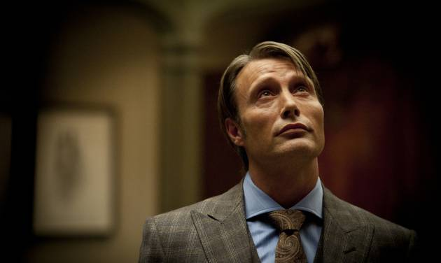 "This publicity image released by NBC shows Mads Mikkelsen as Dr. Hannibal Lecter in a scene from the TV series, ""Hannibal,"" airing Thursdays at 10 p.m. EST on NBC. NBC says it's pulling an episode of its serial killer drama out of sensitivity to recent violence, including the Boston bombings. The episode, the fourth for the freshman series, will be replaced by another ""Hannibal"" hour.  (AP Photo/NBC, Brooke Palmer)"