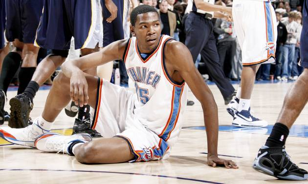 Thunder forward Kevin Durant has said that anything less than the 2010 playoffs would be a disappointment, but that goal, while possible, isn't very likely. PHOTO BY BRYAN TERRY, THE OKLAHOMAN