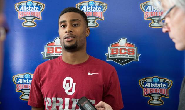 Oklahoma defensive back Aaron Colvin has struggled with injuries during his senior season, but he was still a first-team All-Big 12 cornerback.AP PHOTO