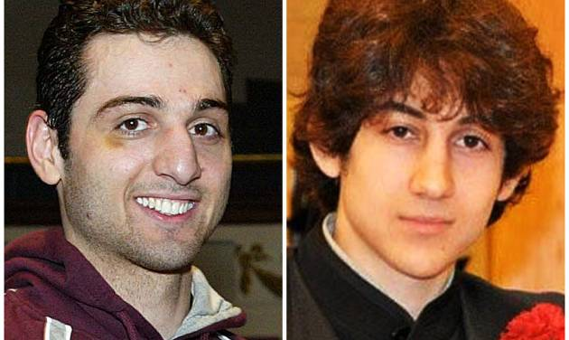 FILE - This combination of undated file photos shows the two brothers the FBI  initially said were suspects in the Boston Marathon bombing on Monday, April 15, 2013, Tamerlan Tsarnaev, 26, left, and Dzhokhar Tsarnaev, 19. Suspect Tamerlan Tsarnaev died after a gunfight with police several days later, while Dzhokhar Tsarnaev, was captured and lies in a hospital prison. Three more suspects have been taken into custody in the marathon bombings, police said Wednesday, May 1, 2013.  (AP Photo/The Lowell Sun & Robin Young, File)