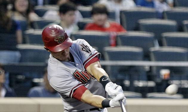 Arizona Diamondbacks' Cody Ransom hits a two-run home run during the second inning of a baseball game against the New York Mets, Friday, May 4, 2012, in New York. (AP Photo/Frank Franklin II)