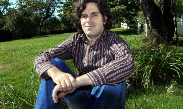 """FILE - This Sept. 2005 file photo shows Jonathan Lethem, author of """"Fortress of Solitude,"""" outside his summer home in Blue Hill, Maine. A musical based on Jonathan Lethem's celebrated 2003 novel """"The Fortress of Solitude"""" is heading toward New York. The Public Theater said Monday, March 4, 2013, that it will co-produce the show and bring it to its downtown home for the 2014-15 season after it debuts at the Dallas Theater Center in March. (AP Photo/Pat Wellenbach, file)"""