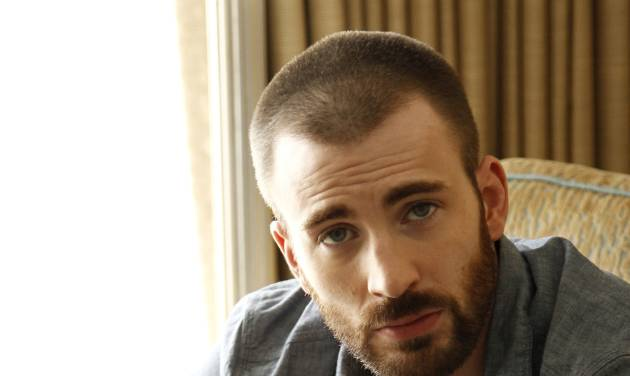 "In this April 12, 2012 photo, cast member Chris Evans, from the upcoming film ""The Avengers"", poses for a portrait in Beverly Hills, Calif. The film will be released in theaters on May 4, 2012. (AP Photo/Matt Sayles)"