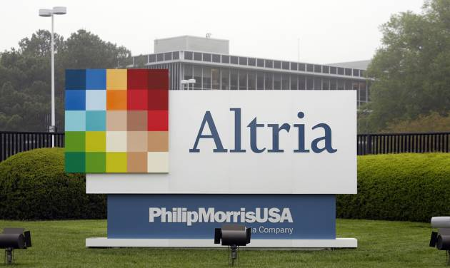 FILE - This April 23, 2008, file photo, shows the Altria Group Inc. corporate headquarters in Richmond, Va. Altria reports quarterly earnings on Thursday, April 24, 2014. (AP Photo/Steve Helber, File)