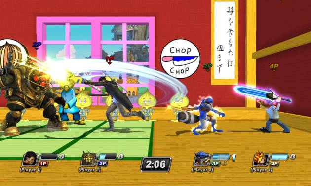 """This video game image released by Sony shows a scene from """"PlayStation All-Stars Battle Royale."""" (AP Photo/Sony)"""