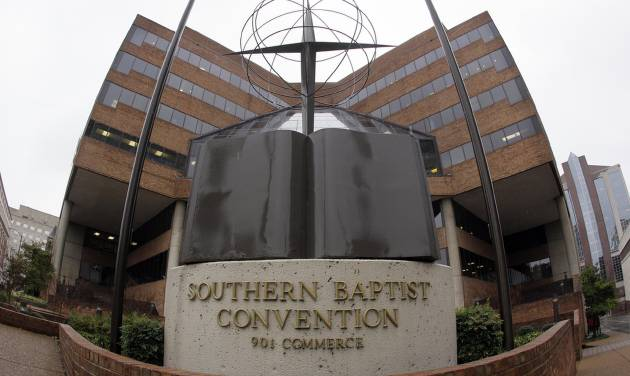"""FILE - In this Dec. 7, 2011 file photo, the headquarters of the Southern Baptist Convention is shown in Nashville, Tenn. The nation's largest protestant denomination will definitely remain """"Baptist,"""" but leaders are thinking about whether it will be """"Southern"""" for much longer. Southern Baptist Convention President Bryant Wright was expected to present the recommendation of a task force assigned to study a name change to the denomination's executive committee at a meeting Monday night, Feb. 20, 2012. (AP Photo/Mark Humphrey, File)"""