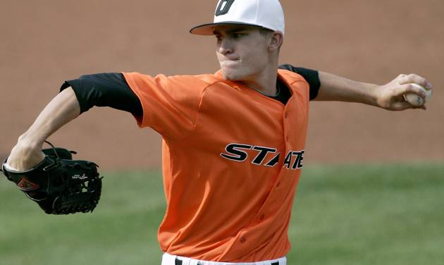 Former Oklahoma State pitcher Andrew Heaney gets his first start in Major League Baseball on Thursday against the New York Mets. Photo by John Clanton, The Oklahoman ORG XMIT: KOD