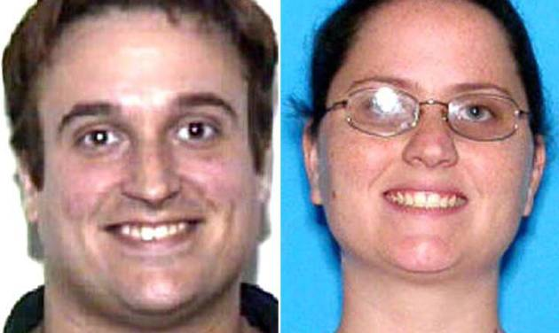 This photo combination made from undated images provided by the Hillsborough County Sheriff's Office shows 35-year-old Joshua Michael Hakken, left, and his wife, 34-year-old Sharyn Patricia Hakken. Cuba says it will turn over to the United States the Florida couple who allegedly kidnapped their own children from the mother's parents and fled by boat to Havana. (AP Photo/Hillsborough County Sheriff's Office)