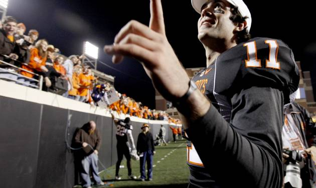 Zac Robinson leaves Oklahoma State as its most prolific passer in school history. Photo by Bryan Terry, The Oklahoman