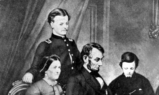 This undated painting by Schapel shows Abraham Lincoln with his wife, Mary Todd Lincoln, and their two sons, Robert Todd and Thomas Lincoln. The location is not known. Living in the White House has its perks, but a clothing allowance is not one of them. First ladies feel all sorts of pressure to project a fashionable look, and over the decades they've tried a range of cash-saving strategies to pull it off without going broke. Mrs. Lincoln considered selling manure from the White House grounds to pay the bills that she ran up for clothes and household items. (AP Photo)