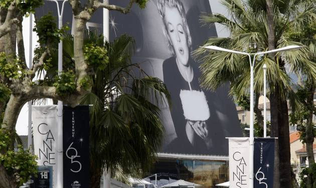 A view of the venue of the 65th international film festival, in Cannes, southern France, Tuesday, May 15, 2012. The Cannes film festival runs from May 16 to May 27, 2012. (AP Photo/Lionel Cironneau)