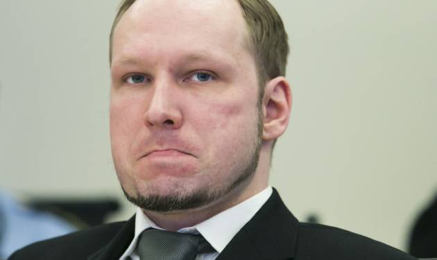 Anders Behring Breivik sits in the Oslo Courthouse, Norway, Thursday, May 3, 2012, on the 11th day of the terror trial. Witnesses have described in chilling detail how mass murderer Anders Behring Breivik tricked them into believing he was a policeman on a ferry to Utoya island where he killed 69 people in a shooting spree on July 22. (AP Photo/Heiko Junge/NTB Scanpix, Pool)