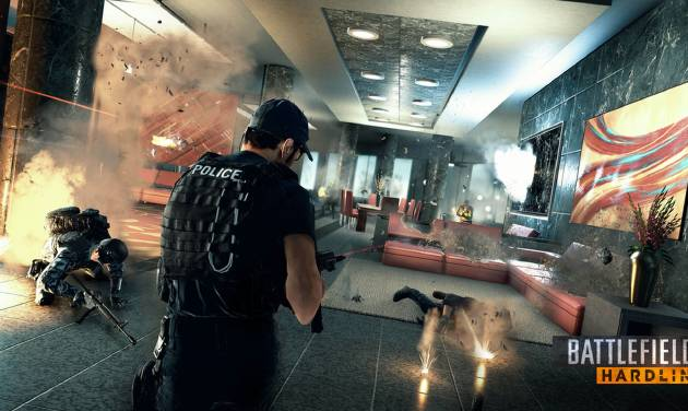 "This photo released by Electronic Arts shows a scene from the video game, ""Battlefield: Hardline."" Electronic Arts is testing its latest ""Battlefield"" game at E3. The video game publisher launched the beta test for ""Battlefield Hardline"" at the conclusion of its presentation at the Electronic Entertainment Expo, the game industry's annual trade show, on Monday, June 9, 2014.  (AP Photo/Electronic Arts)"