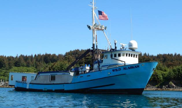 """This undated handout photo provided by Alaskan Leader Tours, shows the converted fishing boat, """"Wild Alaskan,"""" in Kodiak Island, Alaska.  The new attraction on Alaska's Kodiak Island features exotic dancers who entertain fisherman on the converted fishing boat, but apparently not everyone approves of the idea.  (AP Photo/Alaskan Leader Tours, Darren Byler)"""