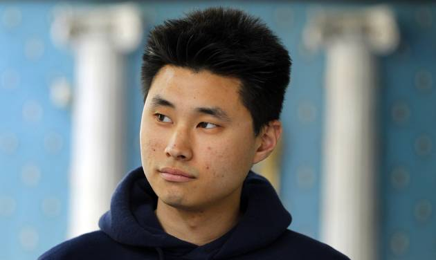 Daniel Chong appears at a news conference where he discussed his detention by the DEA during a news conference on May 1, 2012 in San Diego. Chong, a U.S. college student, was forgotten by federal drug agents and left in a holding cell for five days without food, water or access to a toilet says he drank his own urine to survive. The 24-year-old engineering student at University of California, San Diego, was swept up as one of nine suspects in an April 21 drug raid that netted 18,000 ecstasy pills, other drugs and weapons. Chong said federal Drug Enforcement Administration agents told him he would be released. (AP Photo/U-T San Diego, K.C. Alfred) SAN DIEGO COUNTY OUT; NO SALES; COMMERCIAL INTERNET OUT; FOREIGN OUT