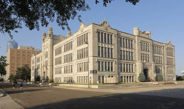 The former Central High School building which is the future home of the Oklahoma City University School of Law.  Photo by Doug Hoke, The Oklahoman   DOUG HOKE -