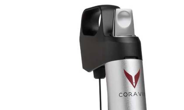 This undated photo provided by the U.S. Consumer Product Safety Commission shows the Coravin 1000 Wine Access System. The devices are being recalled because they can cause wine bottles to break during pressurization, posing a risk of lacerations. (AP Photo/U.S. Consumer Product Safety Commission)