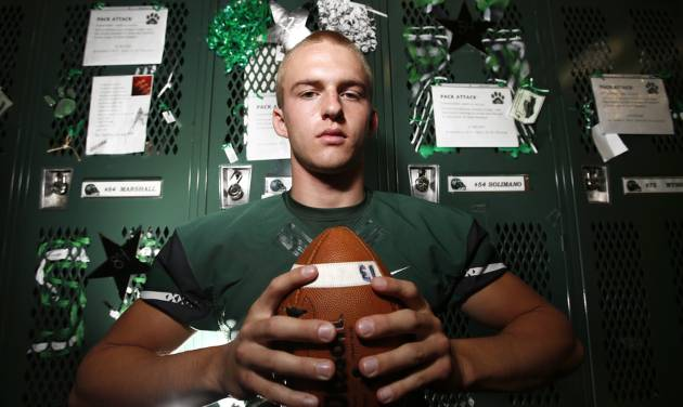 Edmond Santa Fe's Justice Hansen in Edmond, Wednesday November 08, 2012. Photo By Steve Gooch, The Oklahoman