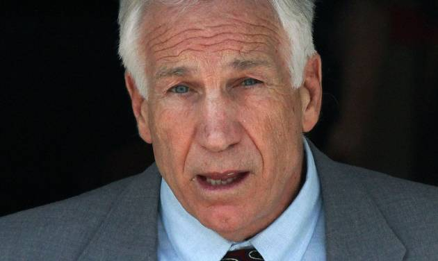 FILE - In this June 21, 2012 file photo, former Penn State University assistant football coach Jerry Sandusky leaves the Centre County Courthouse in Bellefonte, Pa. Sandusky should be sent to prison for life when a judge sentences him Tuesday, Oct. 9, 2012, according to several of the jurors who convicted the former Penn State assistant coach of molesting several boys over a period of years. (AP Photo/Gene J. Puskar)