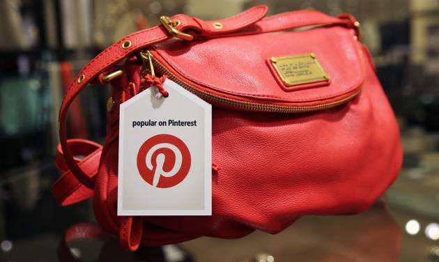 """This undated image provided by Nordstrom shows a handbag made popular on Pinterest that is available at Nordstrom stores. Pinterest, a social media site that allows users to create collections of photos, articles, recipes, videos and other images that are called """"pins,"""" is being used by big chains to draw business to their own sites. (AP Photo/Nordstrom)"""