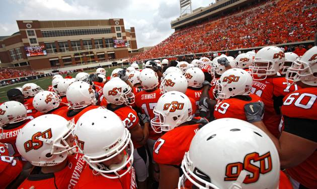 Oklahoma State delivered a message to the rest of the Big 12 and the nation with its 24-10 win over Georgia on Saturday. But is the team now ready for national title consideration? Photo by Chris Landsberger, The Oklahoman