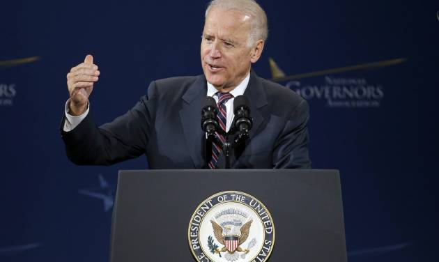 Vice President Joe Biden speaks at the National Governors Association convention Friday, July 11, 2014, in Nashville, Tenn. (AP Photo/Mark Humphrey)
