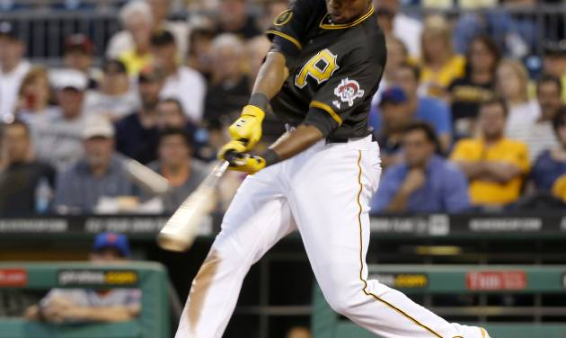 Pittsburgh Pirates' Gregory Polanco hts a three-run home run against the New York Mets in the fifth inning of a baseball game Thursday, June 26, 2014, in Pittsburgh. (AP Photo/Keith Srakocic)