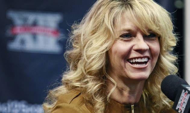 Oklahoma women's head coach Sherri Coale speaks during a news conference at the Big 12 Conference NCAA college basketball media day, Thursday, Oct. 25, 2012, in Dallas. (AP Photo/The Fort Worth Star-Telegram, Paul Moseley)