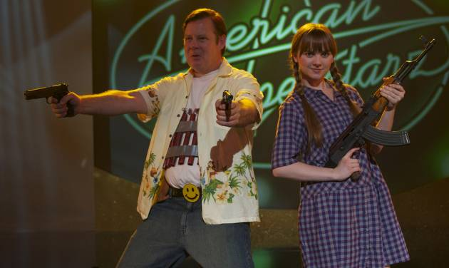 "In this film image released by Magnolia Pictures, Joel Murray, left, and Tara Lynne Barr are shown in a scene from ""God Bless America."" (AP Photo/Magnolia Pictures)"