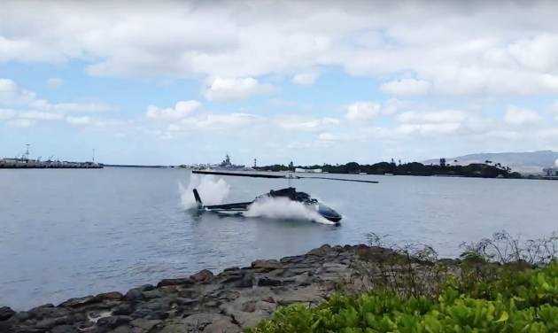 Helicopter crashes into Pearl Harbor, 1 critically hurt