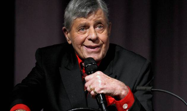 """FILE - In this Dec. 7, 2011 file photo released by Starz shows comedian Jerry Lewis speaking at the Encore Original premiere of """"Method to the Madness of Jerry Lewis"""" in Los Angeles. The 86-year-old Lewis was hospitalized Tuesday, June 12, just before he was scheduled to receive an award and present another to Tom Cruise at the Friars Club Entertainment Icon Awards in New York. Publicist Candi Cazau says he should be released from the hospital sometime Wednesday. (AP Photo/Starz, Joe Kohen)"""