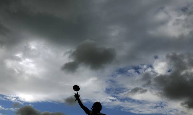 Green Bay Packers' Jordy Nelson throws a ball during NFL football training camp Friday, July 26, 2013, in Green Bay, Wis. (AP Photo/Morry Gash)