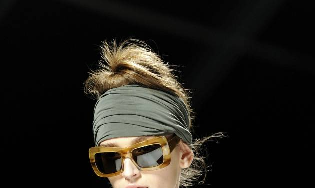 A model wears a creation part of the Max Mara Women's Spring-Summer 2013 fashion collection, during the fashion week in Milan, Italy, Thursday, Sept. 20, 2012. (AP Photo/Giuseppe Aresu)
