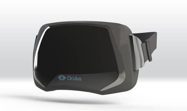 This publicity image provided by Oculus VR shows a virtual reality headset. The virtual reality headset, the doodad that was supposed to seamlessly transport wearers to three-dimensional virtual worlds, has made a remarkable return at this year's Game Developers Conference. After banking $2.4 million from crowd funding and drumming up hype over the past year, Oculus VR captured the conference's attention this week with a virtual reality headset that's more like a pair of ski goggles than those bulky gaming helmets of the 1990s. (AP Photo/Oculus VR)