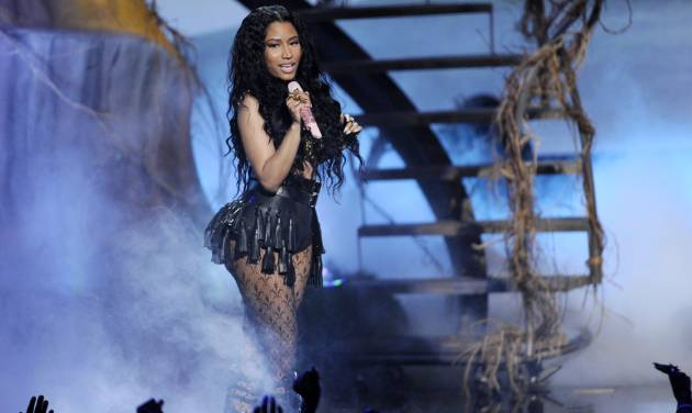 Nicki Minaj performs at the BET Awards at the Nokia Theatre on Sunday, June 29, 2014, in Los Angeles. (Photo by Chris Pizzello/Invision/AP)