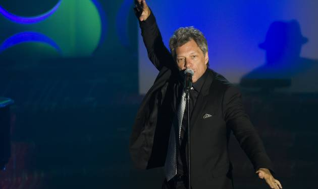 Jon Bon Jovi performs at the Songwriters Hall of Fame Awards on Thursday, June 12, 2014, in New York. (Photo by Charles Sykes/Invision/AP)