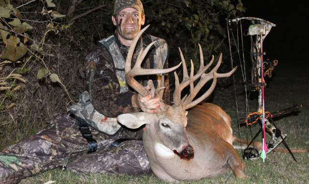 Bo Cocannouer's 19-point buck from Grady County had a green score of 194 and a net score of 185. National outdoor television shows are trying to buy the video of the Tuttle resident's hunt. Photo Provided