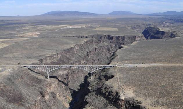 This undated photo shows the Rio Grande Gorge Bridge within the proposed El Rio Grande Del Norte National Conservation Area near Taos, N.M. The White House says President Obama will designate as national monuments Monday March 25, 2013, the Río Grande del Norte National Monument in New Mexico; First State National Monument in Delaware; Harriet Tubman Underground Railroad National Monument in Maryland; Charles Young Buffalo Soldiers National Monument in Ohio; and San Juan Islands National Monument in Washington state. (AP Photo/Albuquerque Journal, Greg Sorber)