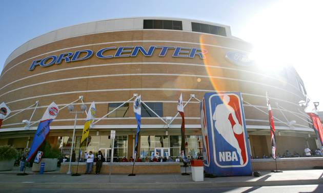 The Ford Center before the opening night NBA basketball game between the Oklahoma City  Thunder and the Milwaukee Bucks on Wednesday, Oct. 29, 2008, at the Ford Center in Oklahoma City, Okla. BY CHRIS LANDSBERGER, THE OKLAHOMAN