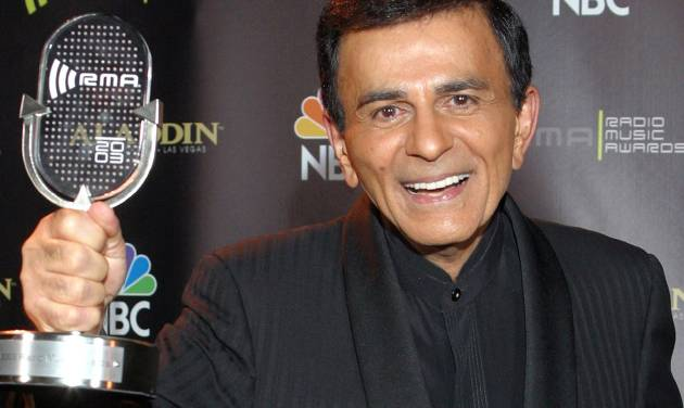 FILE - In this Oct. 27, 2003, file photo, Casey Kasem poses for photographers after receiving the Radio Icon award during The 2003 Radio Music Awards in Las Vegas. A Los Angeles judge on Wednesday, June 11, 2014, reversed a previous ruling and  said that doctors should not restore food or fluids to Kasem, who is in the final stages of life after battling dementia.  (AP Photo/Eric Jamison, File)
