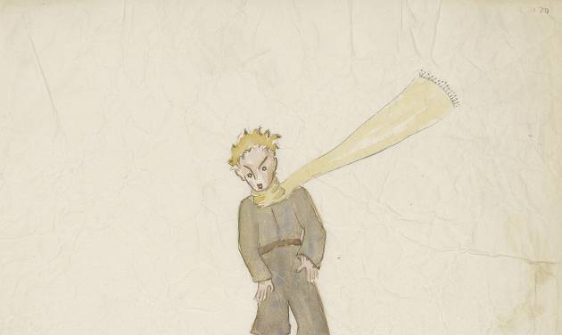 "This undated photo provided by the Morgan Library and Museum shows a drawing from Antoine de Saint-Exupery's beloved children's tale ""The Little Prince,"" which is the subject of a major exhibition at the Morgan Library and Museum in New York on the 70th anniversary of the book's publication. (AP Photo/Morgan Library and Museum, Graham S. Haber)"